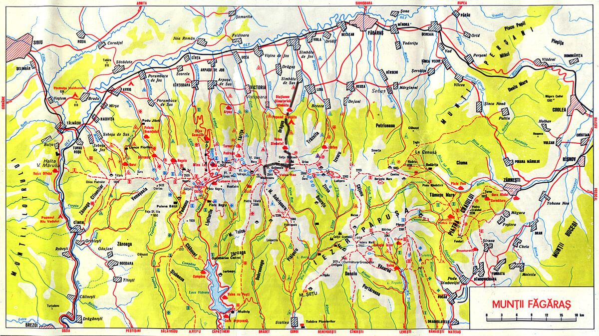 harta fagaras moldoveanu
