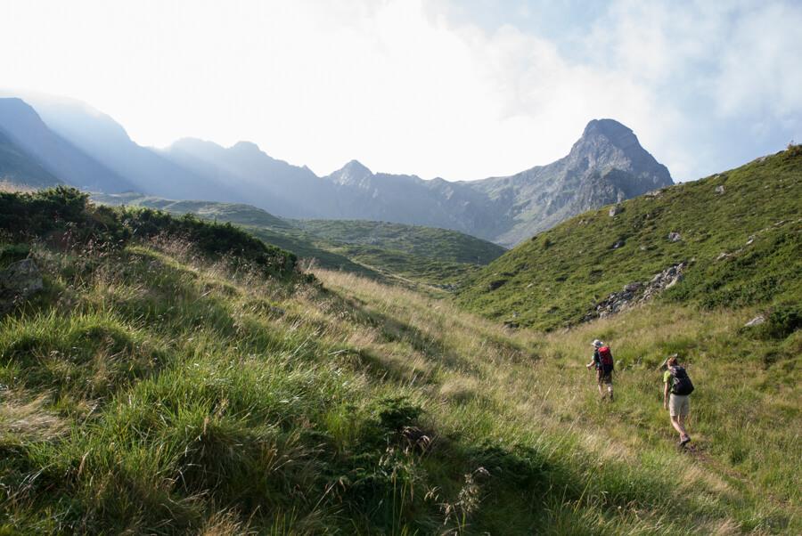 Valcelul plin de iarba :). In dreapta Coltul Balaceni
