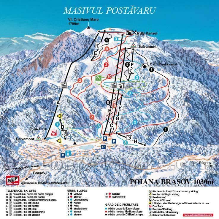 Harta Schi Poiana Brasov